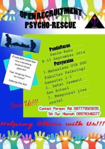 Open Recruitment Psycho Rescue